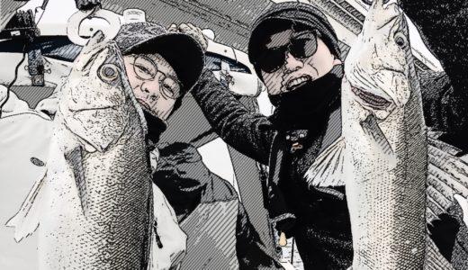 【ボートシーバス】釣日和のチャーターボートでシーバスジギング